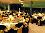 black and gold chair covers