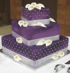 Calla-Lily-and-Pearl-Embellished-Purple-Wedding-Cake