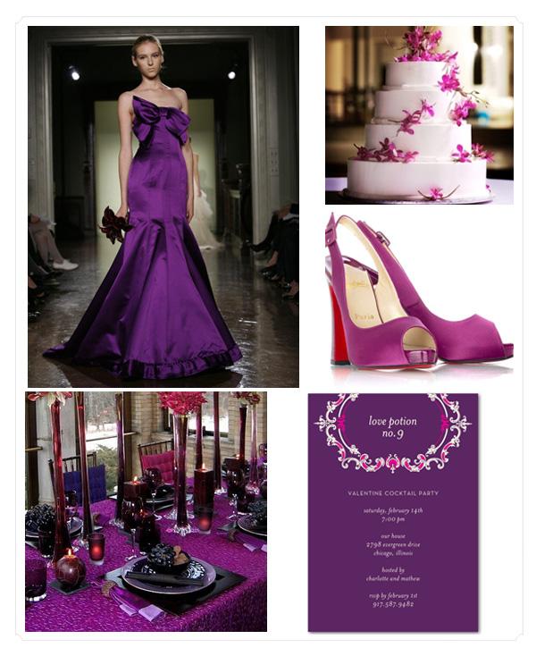 Purple Themed Wedding: We Do Dream Weddings