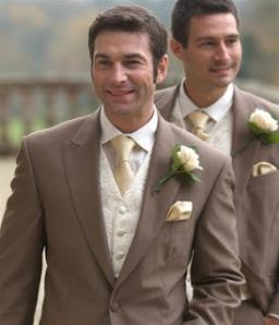 real flower petal confetti winter wedding ideas gold groom tie suit