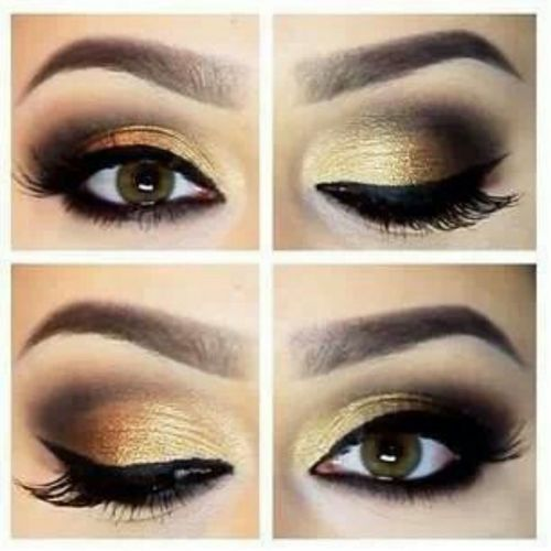 Gold Smokey Eye Bridal Makeup : Wedding Theme: Gold and White We Do Dream Weddings!