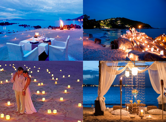 engagement proposal candlelight dinner on bali beach we do dream
