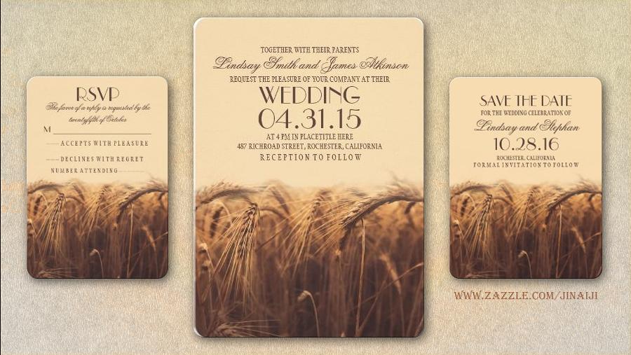 Country Rustic Wedding Invitations: We Do Dream Weddings